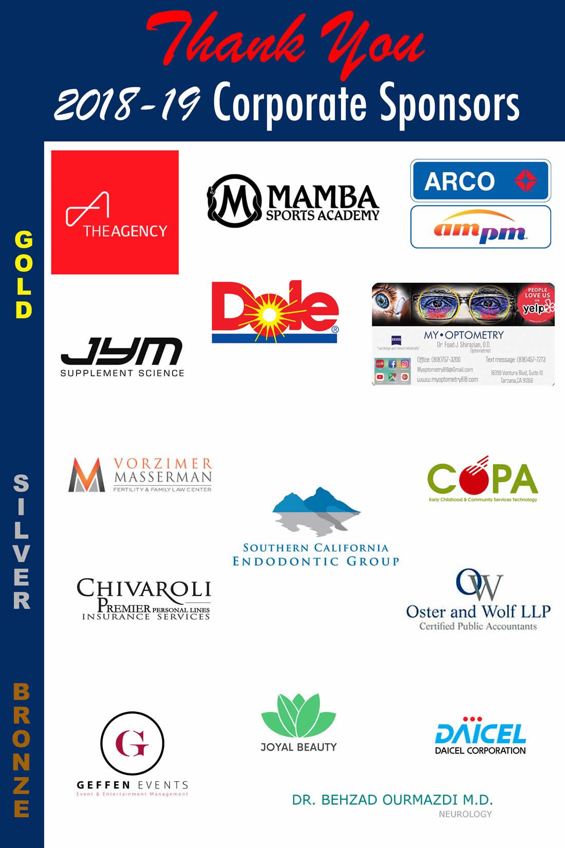 Corporate Sponsors 2018-2019